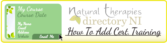 How To Advert Natural Therapies Directory NI