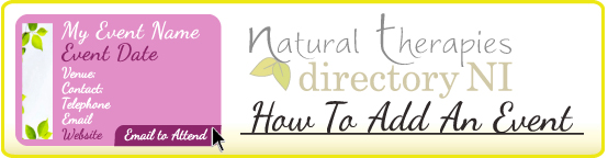 How To Event Natural Therapies Directory NI