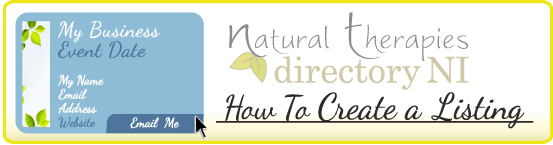 How To Listing Natural Therapies Directory NI