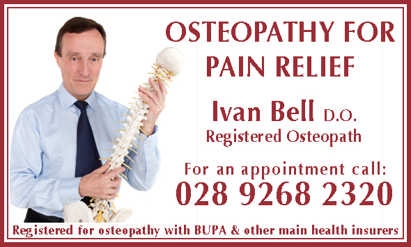 Ivan Bell Osteopath Northern Ireland, Osteopathy for pain relief. Registered Osteopath
