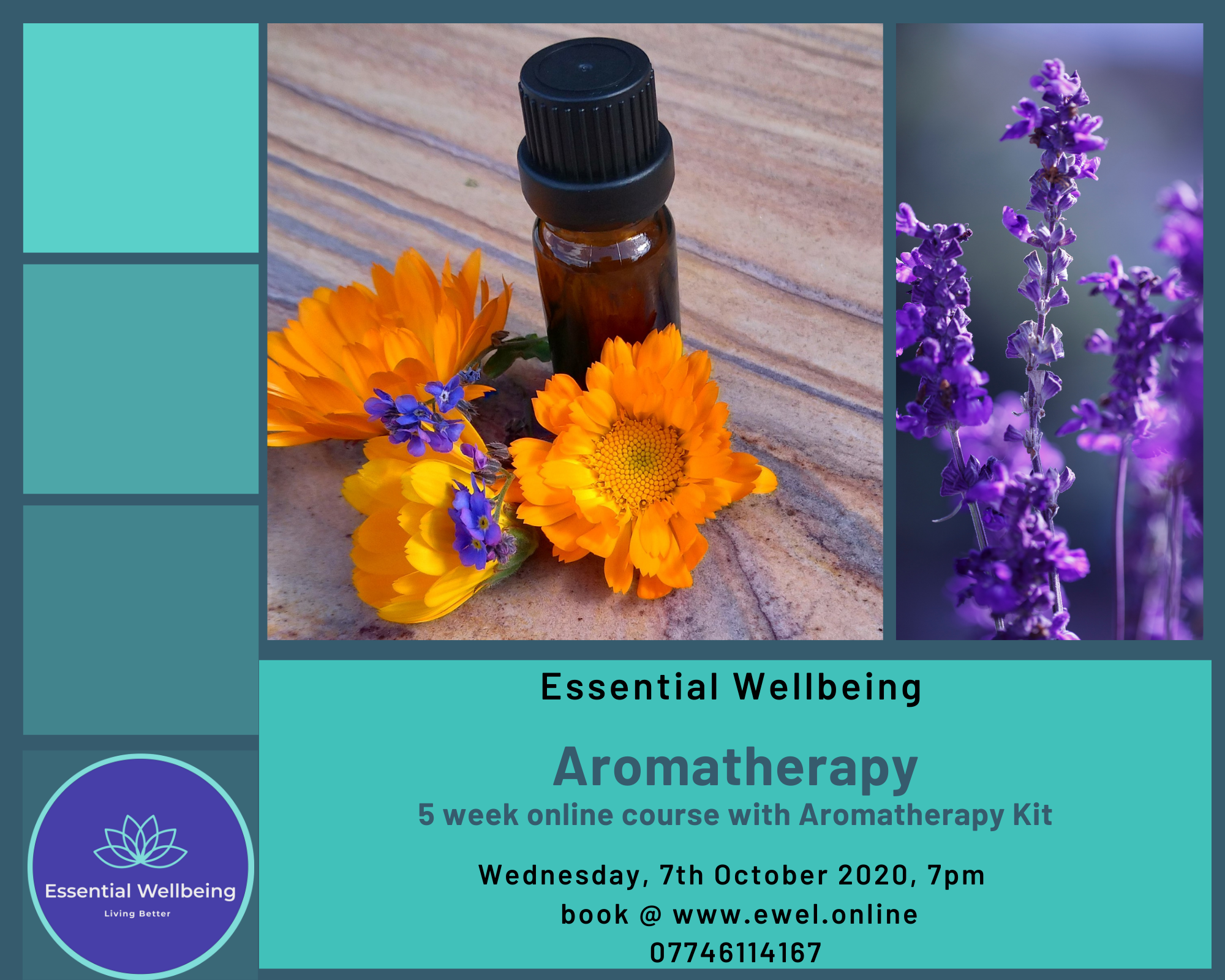 Aromatherapy 5 week Online Course with Kit