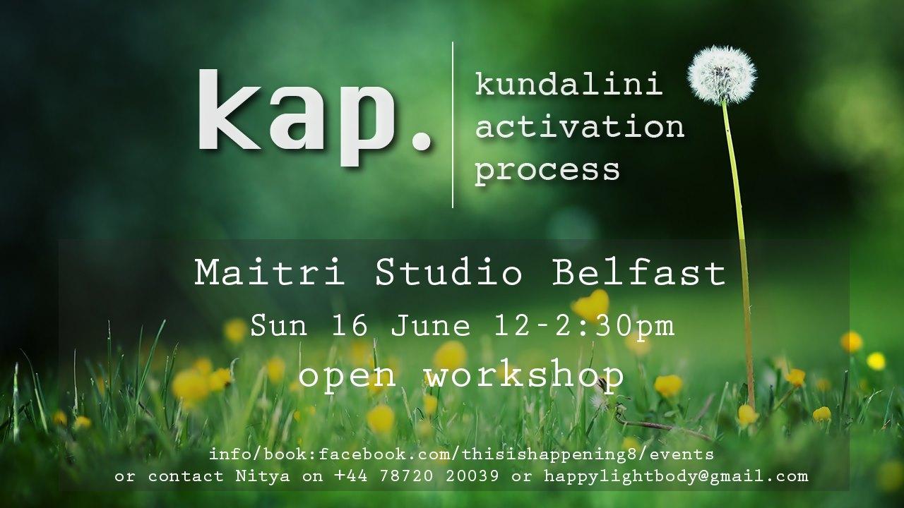 Maitri Studio, Belfast, Nitya Rachael Lindsay, Kundalini activation process