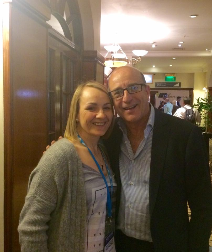 Image of Vivian with Paul McKenna learning the secrets of hypnosis