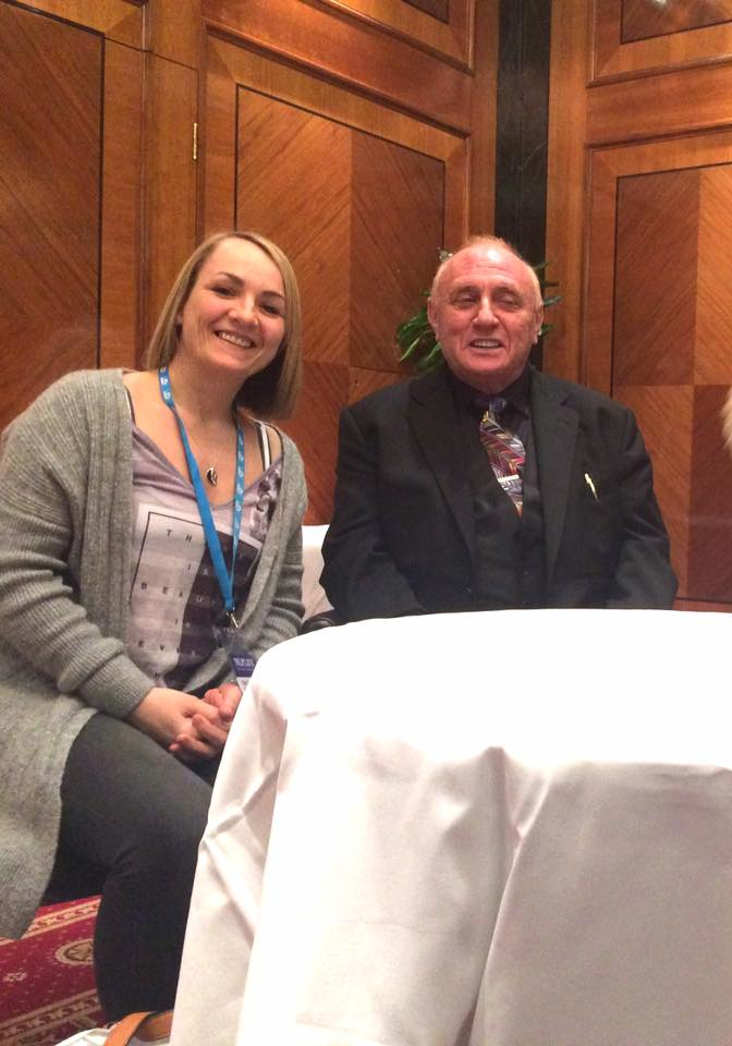 Image of Vivian with Dr Richard Bandler