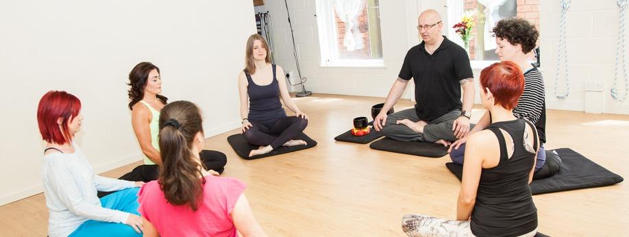 People sitting in meditation